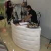 Meble dla sklepu: Lada półokrągłą tapicerowana